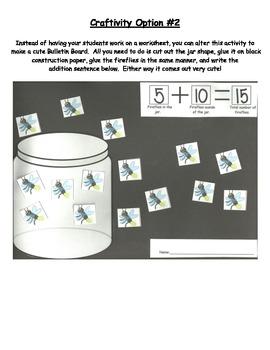 """Ten Flashing Fireflies"" Differentiated Addition Lesson Plan & Craftivity"