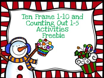Ten Frame 1-10 and Counting Out 1-5 Activities Freebie