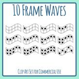Ten Frame (10 frame) Waves Clip Art Set Commercial Use