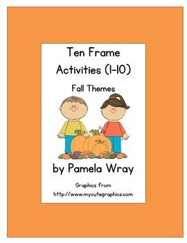 Ten Frames 1-10 (Fall theme)