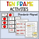 Ten Frame Activities - Task Cards, Matching Cards, Workshe