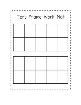 Ten Frame Activity Mat