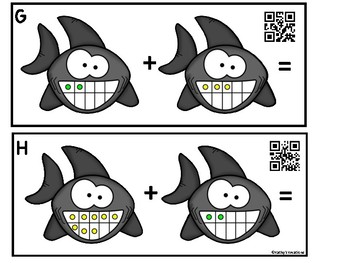 Ten Frame Add The Room -Sharks (QR Code Ready)