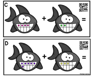 Ten Frame Add The Room -Sharks (QR Code Ready)