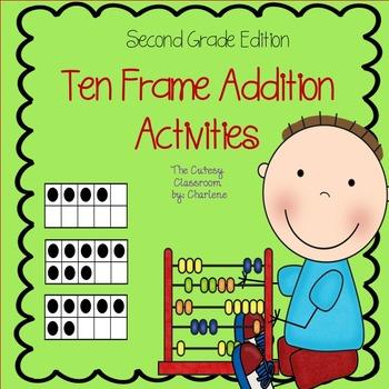 Ten Frame Addition Activities CCSS 2.OA.B.2