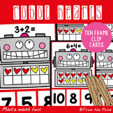 Ten Frame Addition Clip Cards - Robot Themed