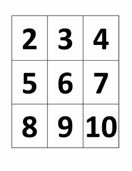 Ten Frame Addition Facts Less Than/Equal To Ten Matching
