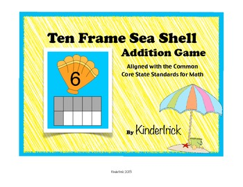 Ten Frame Addition Game- Sea Shells