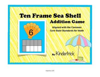 Ten Frame Addition Game- Sea Shells
