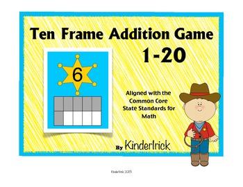 Ten Frame Addition Game- Howdy Partner!