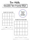 Ten Frame Addition Mat
