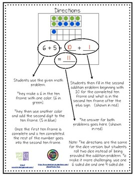 Ten Frame Addition Practice Pages