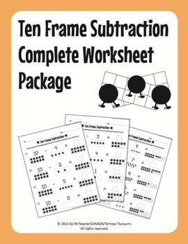 Ten Frame Addition & Subtraction Complete Worksheet Bundle (110 Worksheets)
