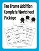 Ten Frame Addition & Subtraction Complete Worksheet Bundle (110 Worksheets)