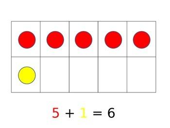 Ten Frame Addition Sums 5-10 Practice Kindergarten