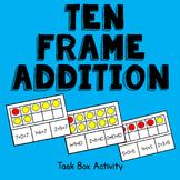 Ten Frame Addition Task Box  #spedspringsahead