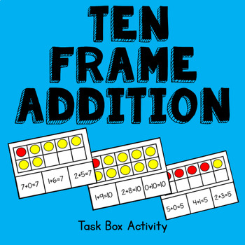 Ten Frame Addition Task Box