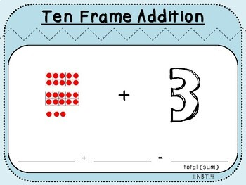 Ten Frame Addition-Teacher Slides (First Grade, 1.NBT.4)