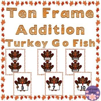 Ten Frame Addition Trukey Go Fish