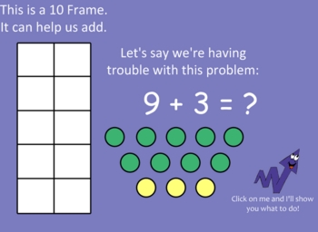 Ten Frame Addition (Using the Add 10 Strategy)