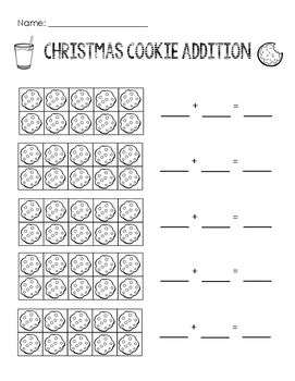 Ten Frame Addition: Winter and Christmas Bundle