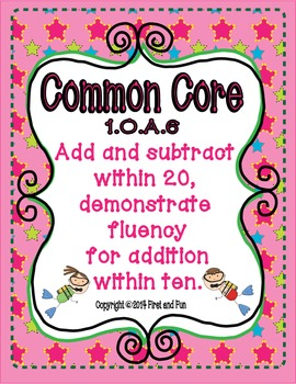 Addition and Subtraction envision Ten Frame Common Core and MAFS