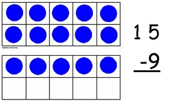 Ten Frame Addition and Subtraction Flash Cards