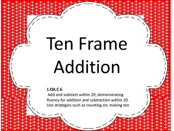 Ten Frame Addition with QR codes
