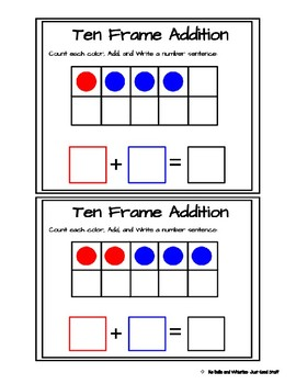 Ten Frame Addition- within 10