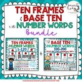 Ten Frame, Base Ten & Number Word Posters: 1-200+300-1,000