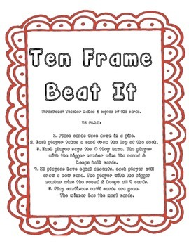 Ten Frame Beat It