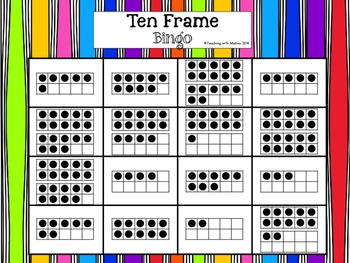 Ten Frame Bingo 0-20