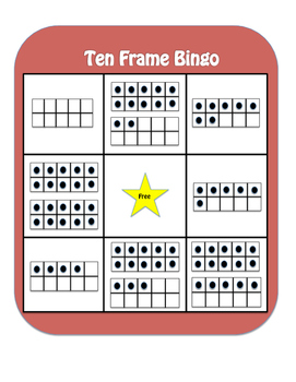 Ten Frame Bingo - Numbers 1-20