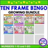 Ten Frame Bingo Numbers 1-20 BUNDLE