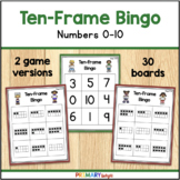 Ten Frame Bingo to 10