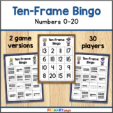 Ten Frame Bingo to 20 Game