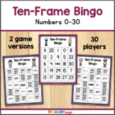 Ten Frame Bingo to 30