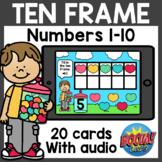 Ten Frame Boom Cards | Valentine's Day Boom Cards Distance