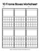 Ten Frame Boxes Workesheet