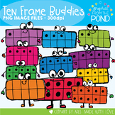 Ten Frame Buddies - Fun Ten Frames Clip Art