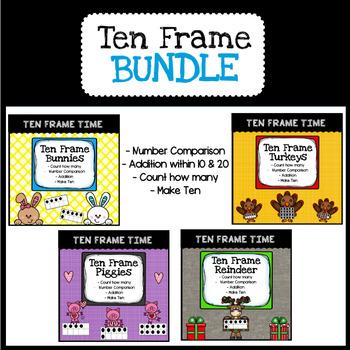 Ten Frame Bundle: Thanksgiving/Christmas/Valentine's Day/Easter