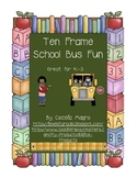 Ten Frame Bus Fun Grades K-3