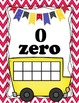 Ten Frame Bus Posters Red Chevron - Numbers 0-20