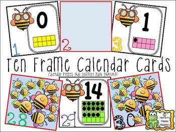 Ten Frame Calendar Cards