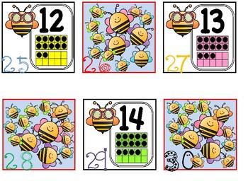 Calendar Date Cards - Ten Frames