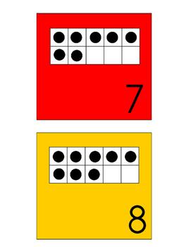 Ten Frame Calendar Pieces