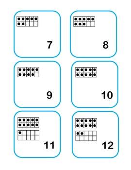 Ten Frame Calendar Squares K.NBT.1  1.NBT.2
