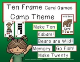 Ten Frame Card Games Camping Theme
