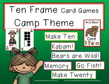 Ten Frame Card Games Camping Theme