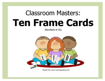 Classroom Masters: Ten Frame Cards